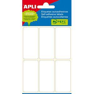Apli Mini étiquettes 26x 26x 54mm–Blanc (Lot de 36) - Publicité