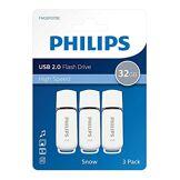 Philips Philips Neige série USB 2.0Flash Drive Mémoire Stick–Super Valeur Lot de 3–32Go