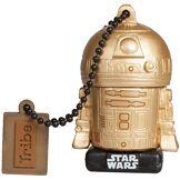 Tribe Clé USB 16 Go R2D2 Gold TLJ - Mémoire Flash Drive 2.0 Originale Star Wars, Tribe FD030518