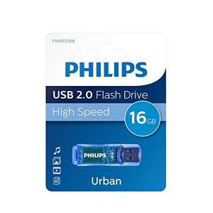 Philips Clé USB FM16FD35B/00 Lecteurs USB Flash (16 Go, USB Type-A, 2.0, Casquette, Bleu) - Publicité