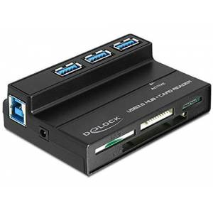DeLOCK 91721 Lecteur de multicarte USB 2.0 Noir - Publicité
