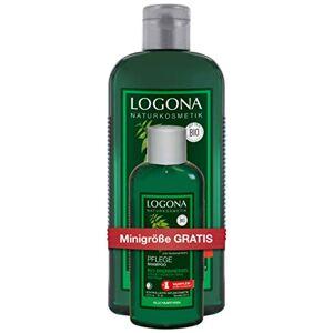 LOGONA Naturkosmetik LOGONA shampooings de soin pour cheveux bio et taille de voyage Lot de 2 (2 x 325 ml) - Publicité