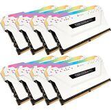 Corsair Vengeance RGB PRO - Kit de Mémorie Enthousiaste (64Go (8x8Go), DDR4, 3600MHz, C18, XMP 2.0) Eclairage LED RGB dynamique - Blanc