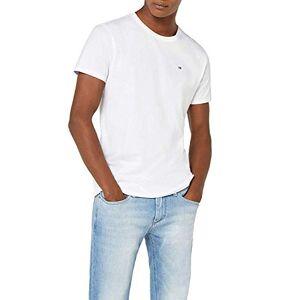 Tommy Jeans Homme Original Jersey T-Shirt Manches Courtes Blanc (Classic White 100) Medium - Publicité