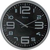 Mazali C37163100 Horloge Murale en Bois Gris 35.79 x 5 x 36,1 cm