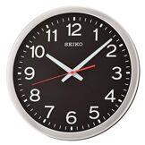 Seiko QXA732S Horloge Murale, Plastique, Noir, 35 x 35 x 5 cm