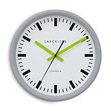 Roger Lascelles Clocks TS/Sync/Grey/Lime Horloge Murale, Verre, White, Taille M