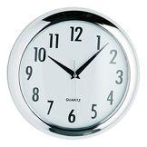 Premier Housewares Horloge murale Finition chrome 24 cm