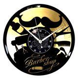 Instant Karma Clocks Horloge Murale en Vinyle LP 33 Tours Instant Karma Idée Cadeau Vintage Coiffure Salon Beauté Barbier Shop (Or) Silencieux