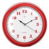 Premier Housewares 2200558 Horloge Murale en Plastique Rouge