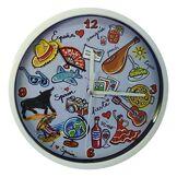 Nadal Horloge Petit Carte Espagne, Multicolore, 14,5x 14,5x 3,3cm