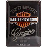 HappyFans Harley-Davidson Plaque en métal Motor Cycles, 40 x 30 cm