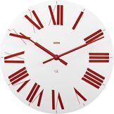 Alessi 12 Wr Firenze Horloge Murale en Abs, Blanc et Rouge, Mouvement Au Quartz