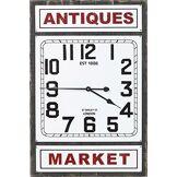 Kare 64529 Horloge Murale, Bois, Weiß, 6,1 x 56,5 x 85 cm