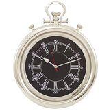 Générique 608 Horloge Manille Mouvement de 3 Aiguilles Aluminium Nickelé 46 x 34 x 8 cm
