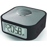 Oregon Scientific CP100 Noir Réveil de Voyage Enceinte Bluetooth, Plastique, 8 x 8 x 4,5 cm