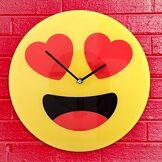 Desconocido Générique-Horloge Murale avec Emoji cœur