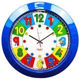 Henbea 767 Horloge Scolaire, Plastique, Jaune, 35 x 35 x 5 cm