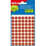 APLI 2053-Sac de 5feuilles avec étiquettes, diamètre 10mm, couleur rouge