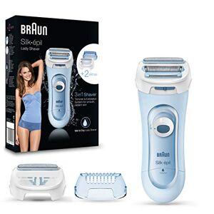 Braun Silk-épil 5–160–Rasoir Féminin Sans Fil 3en 1Wet & Dry, système de rasurado, Cisaille et Exfoliation, 2accessoires, bleu - Publicité