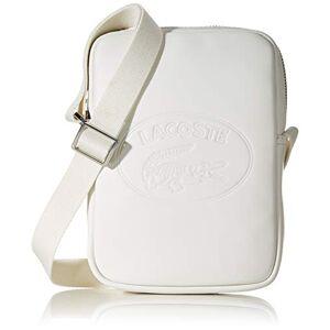 Lacoste homme  L.12.Cuir Cabas et pochette Blanc (Marshmallow) - Publicité