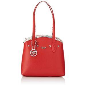 PIERO GUIDI Tote Bag + Busta, Cabas femme, Rouge (Rosso), 21x18,5x4 cm (W x H L) - Publicité