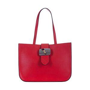 Calvin Klein Dallas Buckle Tote 29 W/Buckle, Cabas femme, Rouge (Barbados Cherry), 1x1x1 cm (W x H L) - Publicité