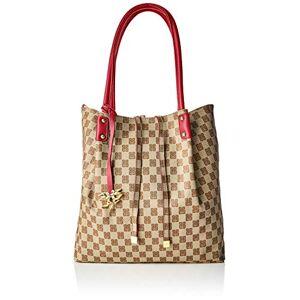 PIERO GUIDI Reversible Tote Bag, Cabas femme, Rouge (Rosso Papavero), 33x33x12 cm (W x H L) - Publicité