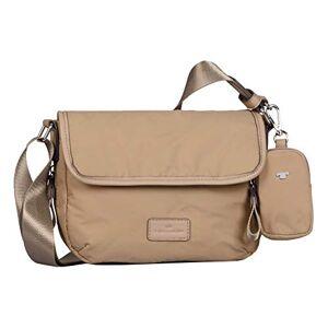 Tom Tailor Beatrice Flap Bag M Beige beige, Medium - Publicité