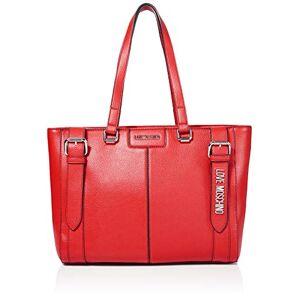 Moschino Love Moschino Borsa Pebble Grain Pu, Cabas femme, Rouge (Rosso), 28x42x13 cm (W x H L) - Publicité