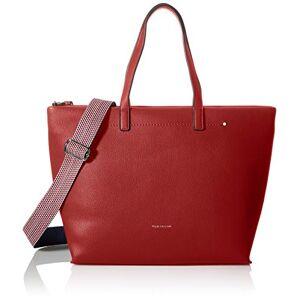 Tom Tailor Delia Shopper pour femme, L Rouge rouge, Large - Publicité