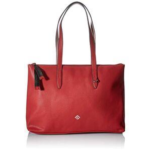 Tom Tailor Denim Sac de shopping pour femme Blanc Taille L Rouge rouge, Large - Publicité
