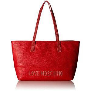 Moschino Love Moschino Borsa Grain Pu, Cabas femme, Rouge (Rosso), 10x28x46 cm (B x H T) - Publicité