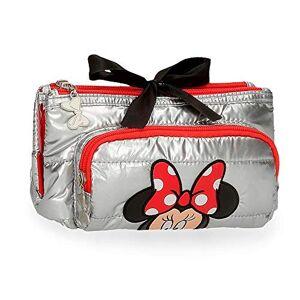 Disney Minnie My Pretty Bow Porte-monnaie trois compartiments Gris 20,5 x 10,5 x 8,5 cm Polyester - Publicité