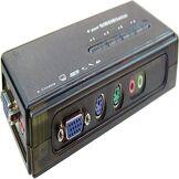 BeMatik.com BeMatik - Commutateur KVM PS2 VGA AUDIO Uniclass 1KVM un mini 4CPU