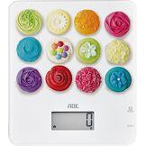 ADE KE1721 Balance de Cuisine Numérique Tiffany-Cupcakes, Plastique, Multicolore, 20 x 23 x 2 cm