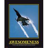 Empire 420602 Motivation Awesomeness Jet Mini poster 40 x 50 cm