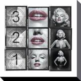 Marilyn Monroe 321Toile, Polyester, Multicolore, 40x 40x 40cm