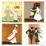 onthewall Vogue Vintage couvertures Pop Art Poster Print Multi (PDP 024)