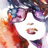 Innova FP07189 Glass'Art 70x70 cm Sunglasses, Verre Sécurisé, Orange/Rouge/Violet/Blanc/Bleu, 68 x 68 x 1 cm