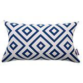 Tom Tailor 564187 T-Open Squares Housse de Coussin Coton/Polyester Bleu/Blanc 50 x 30 x 1 cm