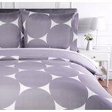 AmazonBasics Parure de lit avec housse de couette en microfibre, 140 x 200 cm, Violet à pois (Purple Mod Dot)
