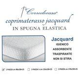 corredocasa 639IT Drap Housse, 40% polyester - 60% coton, blanc, 90x190x25 cm