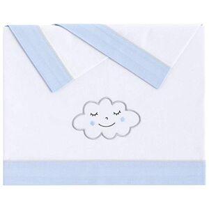 Pekebaby 011190003NuvolaTriptyque draps Coton voiture, couleur bleu - Publicité