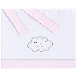Pekebaby 031190001NuvolaTriptyque de literie coton lit, couleur ROSE - Publicité