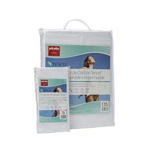 Pikolin Home Set Protge-lit en Lyocell, imperméable. Protge-matelas (135x190/200cm), taie doreiller (40x135cm)-Lit 135 - Publicité