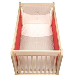Albero Bambino Jeu en tissu de 3pices pour lit (60x 120cm): Couvre-lit, protecteur et taie d'oreiller crme/Ecru - Publicité