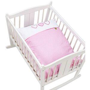 Briljant Baby Housse de Couette 60 x 80 cm, rose clair et blanc - Publicité