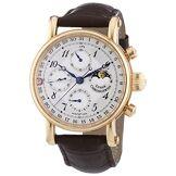 chronoswiss 7541rl Marron Hommes de Sirius Moonphase Montre Mécanique avec Cadran Argenté, Affichage Chronographe et Bracelet Marron