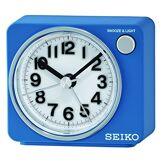 Seiko Unisexe qHE100L réveil analogique-Cadran Blanc-Bracelet Plastique Blanc